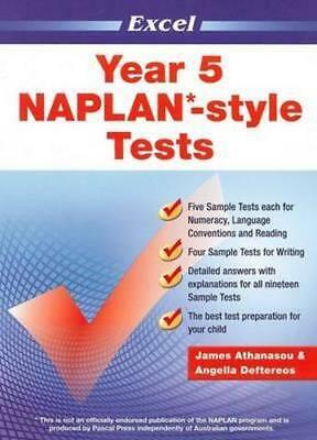 NEW Year 5 NAPLAN-style Tests By Excel Paperback Free Shipping