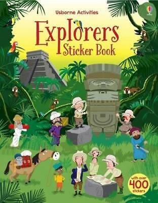 NEW Explorers Sticker Book By Fiona Watt Paperback Free Shipping