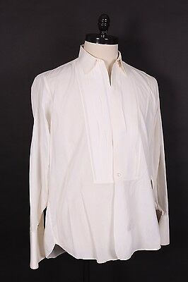 Vtg 60S Arrow Cotton Tuxedo Tux Dress Shirt French Cuff Mens Large