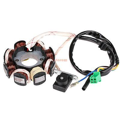 Magneto Stator Ignition Generator 8 Coils For 125cc GY6 Scooter Moped QMI152/157