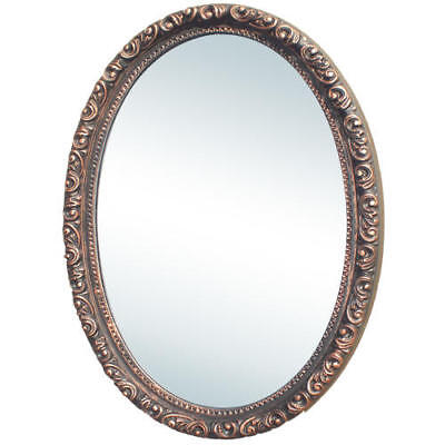 Signature Hardware Camille Antique Oval Medicine Cabinet with Mirror