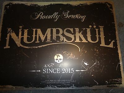 Numbskul Proudly Serving Caribbean Rum Bar Tin Sign - New! Neat Sign! 24 X 18