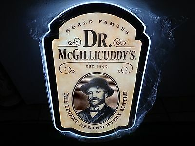 """DR MCGILLICUDDY'S """"LEGEND BEHIND EVERY BOTTLE"""" *LED* SIGN - NEW! 24X14 doctor"""