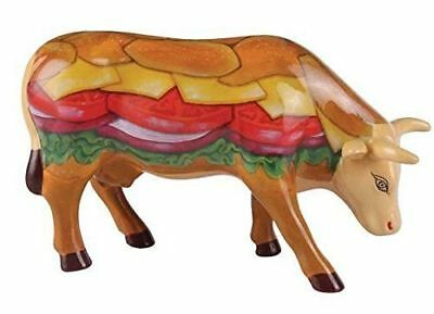 Cows On Parade Moovin Veggie Burger Cow Figurine #46441