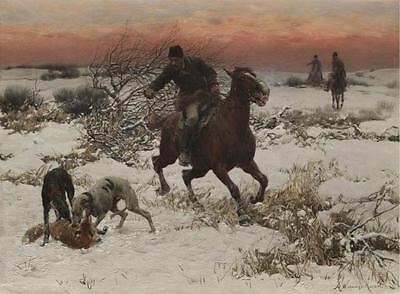Animals Repro Print on Canvas or Paper A merry ride by Alfred Kowalski