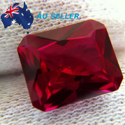 18.52CT PIGEON BLOOD RED RUBY 13x18MM EMERALD CUT AAAA+ LOOSE GEMSTONE GIFT AU