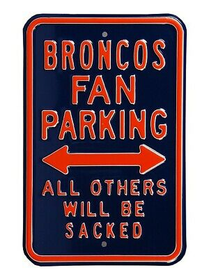 Denver Broncos Sign Parken Schild,NFL Football,45 cm,MUST SEE