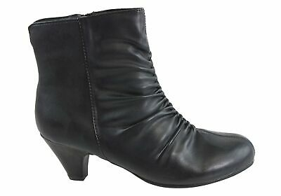 New Grosby Athena Womens Comfortable Wide Fit Ankle Boots