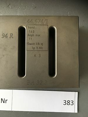 Herrmann  Ultraschall Sonotrode Resonator 80mm x 70mm x 28mm