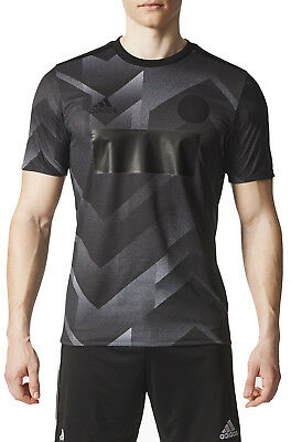 adidas Tango Mens Short Sleeve Training Top - Black