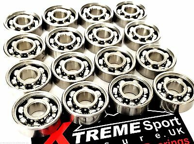 *16 Pack 627 CLASSIC OPEN STYLE BEARINGS ROLLER SKATE 7mm + STICKER