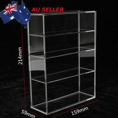 AU Four-layer Acrylic Display Box Show Case Sliding Door For Mini Perfume Bottle