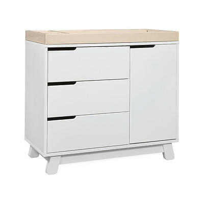 Babyletto Hudson 3 Drawer Changer Dresser - White/Washed Natural