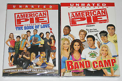 Comedy DVD Lot - American Pie Presents Band Camp (New) The Book of Love (New)