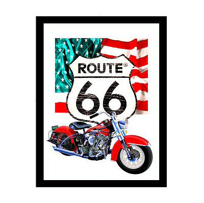 Mirror Route 66 flag, 20 x 30 cm