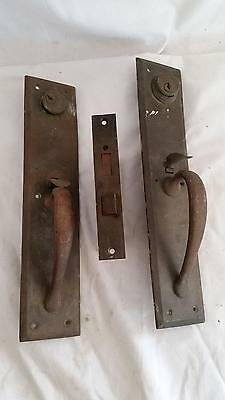 Antique Brass Exterior Entry Mortise Door Lock, Thumb Latch both sides,Sargent
