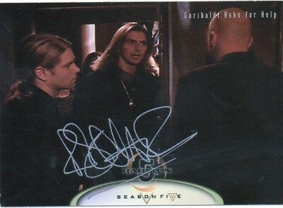 BABYLON 5 personally signed card  - ROBIN A DOWNES who played Byron (a)