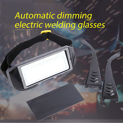 Pro Solar Welding Mask Helmet Arc Auto Darkening Eyes Goggle Welder Glasses