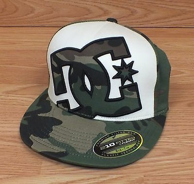 50800e44 GENUINE 210 FITTED Flexfit DC Camo Men's Hat Size 6 7/8 - 7 1/4 ...