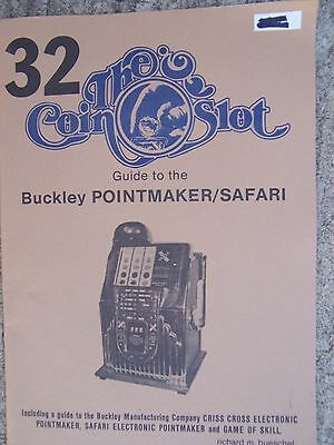 1980 Slot Machine Guide Buckley Poiontmaker Safari Poointmaker COIN SLOT 32    R