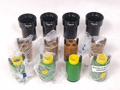 NEW - Thermo Scientific Sorvall Centrifuge Buckets 180ml w/ 8 Adapters