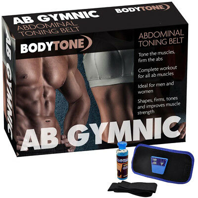 AbGymnic Toner Sexy Muscle Toning Belt Six Pack Waist Fitness Slimming + Gel