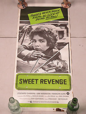 Sweet Revenge 1976 Stockard Channing Sam Waterston Australian Movie Poster