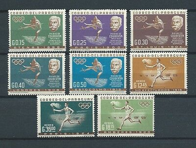 LATIN AMERICA - PARAGUAY - 1963 MI 1160 à 1167 -  TIMBRES NEUFS** MNH LUXE