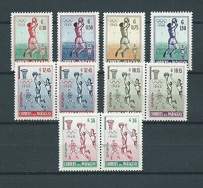 LATIN AMERICA - PARAGUAY - 1960 MI 834 à 840 -  TIMBRES NEUFS** MNH LUXE