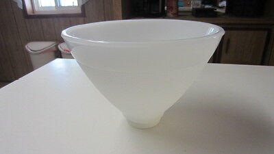 Vintage Milk Glass Waffle Torchiere / Diffuser, 8 in. Top & 2 1/4 in. Fitter, #2