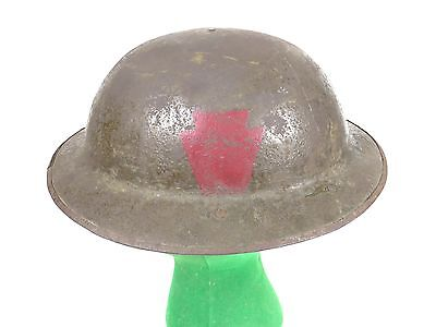 Vintage WW1 28th Infantry Division Brodie Steel Helmet Doughboy