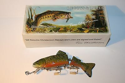 """Tom Christenson - Custom Jointed Lure - Original Box - Signed & Dated - 6"""" Long"""