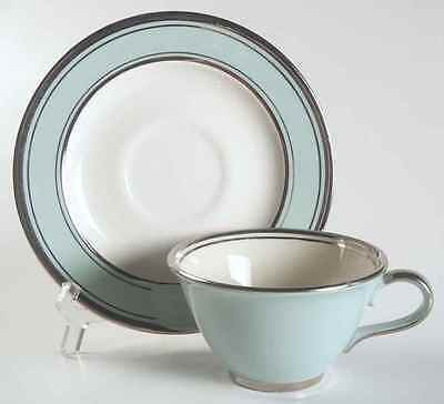 Taylor, Smith & Taylor SILVER BLUE Cup & Saucer 728387