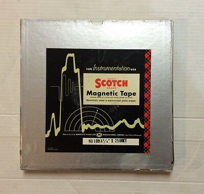 """Scotch Brand Blank Reel To Reel Tapes 109A 1/4"""" X 2500 Ft 10.5"""" Original In Box"""
