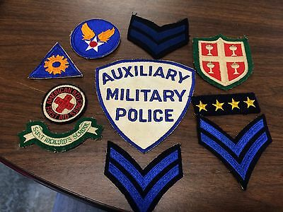 Vintage Lot Of 10 Original Military Patches!!