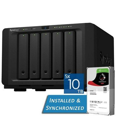Synology DiskStation DS1517+ 8GB 5 Bays NAS + 50TB 5x Seagate 10TB ST10000VN0004