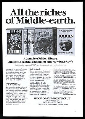 1978 JRR J.R.R. Tolkien The Silmarillion Lord of the Rings book print ad