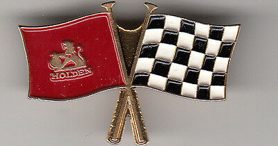 HOLDEN CHEQURED FLAGS cap pin - badge