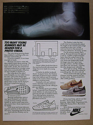 1983 Nike Destiny Running Shoes foot x-ray vintage print Ad