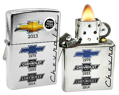 Zippo 28846 Chevy Chevrolet Bowtie Street Chrome Finish Windproof Lighter New