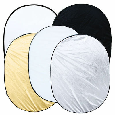 90 x 120cm 5-in-1 Photo Photography Studio Light Collapsible Reflector + Case