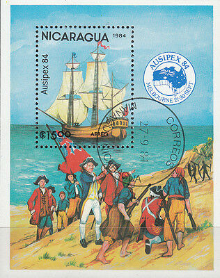Nicaragua Nr. Bl. 161 (2541) AUSIPEX`84 Melbourne / H.M.S. Discovery