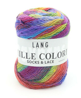 One Skein of Lang Yarns Mille Colori Socks & Lace