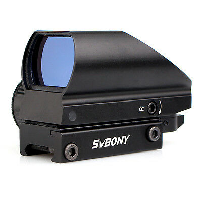SVBONY Red+Green 5 Level Brightness 4 Reticle Tactical Dot Sight Coated Optic
