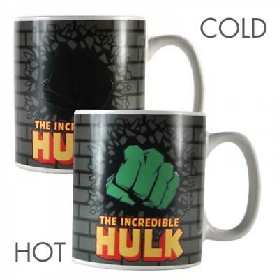 Marvel Hulk Heat Changing Magic Mug Coffee Cup New And Gift Box