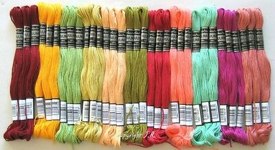 Embroidery thread AUTUMN-COLOURED 30 Dock cotton embroidery with each 8m