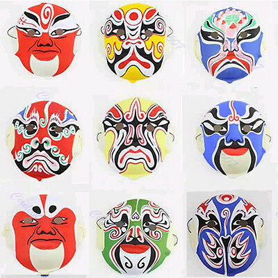 New Hand Painted Chinese Art Culture Paper Pulp Peking Opera Style Mask Festival