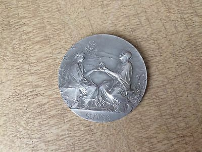 Rare Genuine Silver French 50Th. Anniversary Medal Dated; 1895 By Oscar Roty