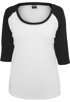 Urban Classics Ladies 3/4 Contrast Raglan Tee TB733 White Black