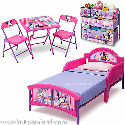 Disney Minnie Mouse Kindermöbel Set Kinder Bett Kinderbett Regal Sitzgruppe Stuh